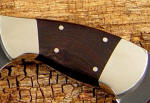 African Blackwood hardwood knife handle with nickel silver